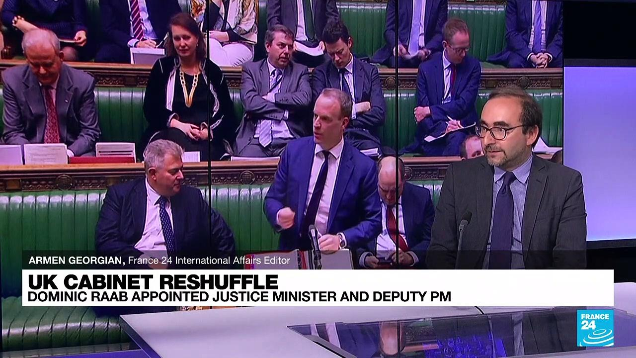 UK foreign secretary Raab moved to justice minister and deputy PM
