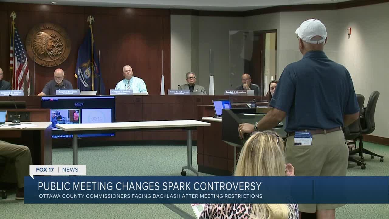 Ottawa Co. commissioners implement new meeting rules for safety reasons