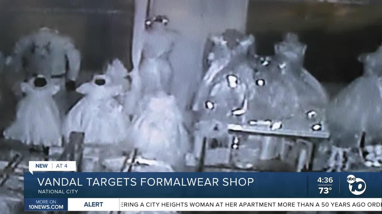 National City formalwear shop targeted by a vandal twice in three weeks