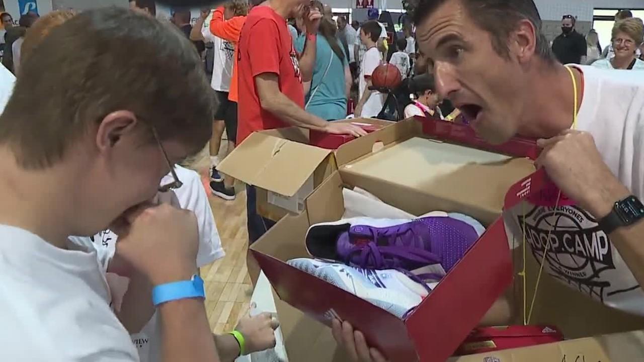 Hoop campers surprised with special gift from Utah Jazz