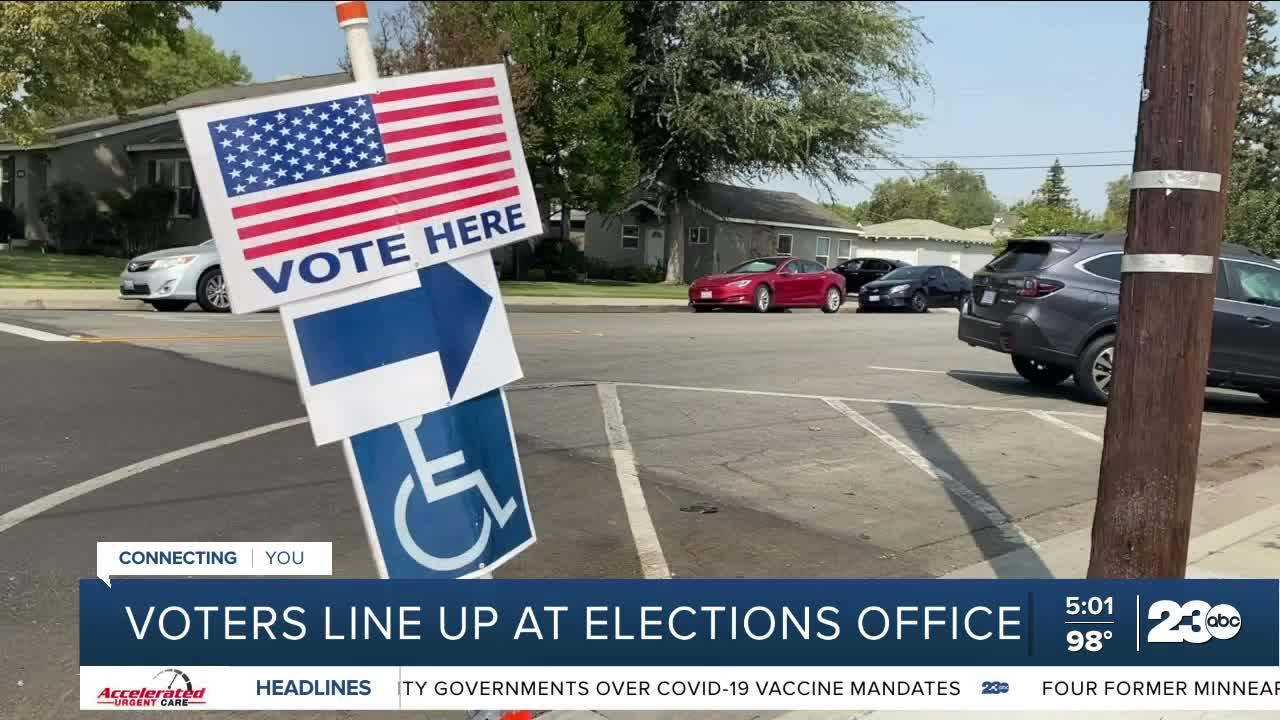 Kern County residents head to the polls for the gubernatorial recall election