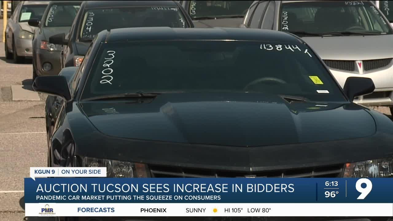 High prices have customers turning to car auctions in Tucson