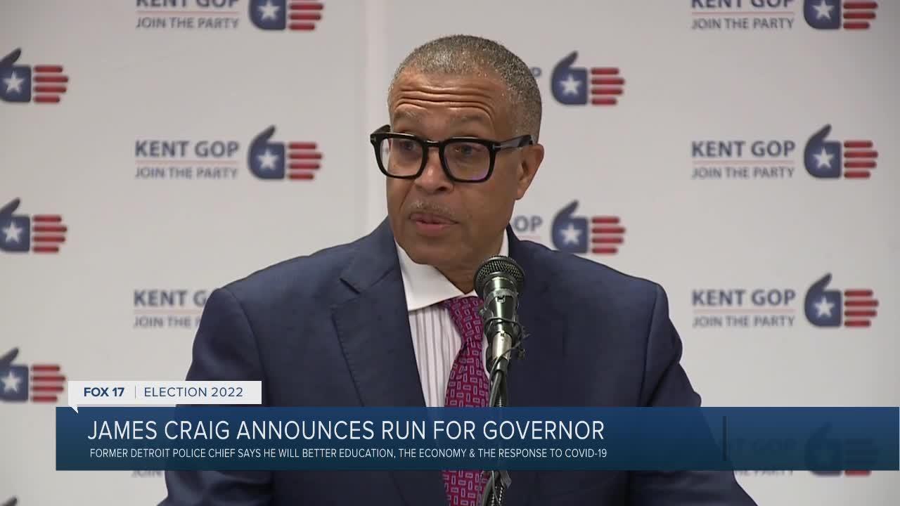 James Craig announces run for Governor