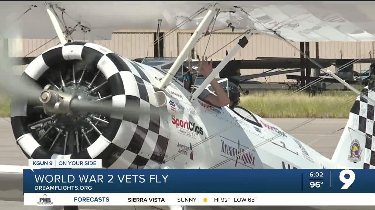 WW2 Vets honored with rides in vintage plane