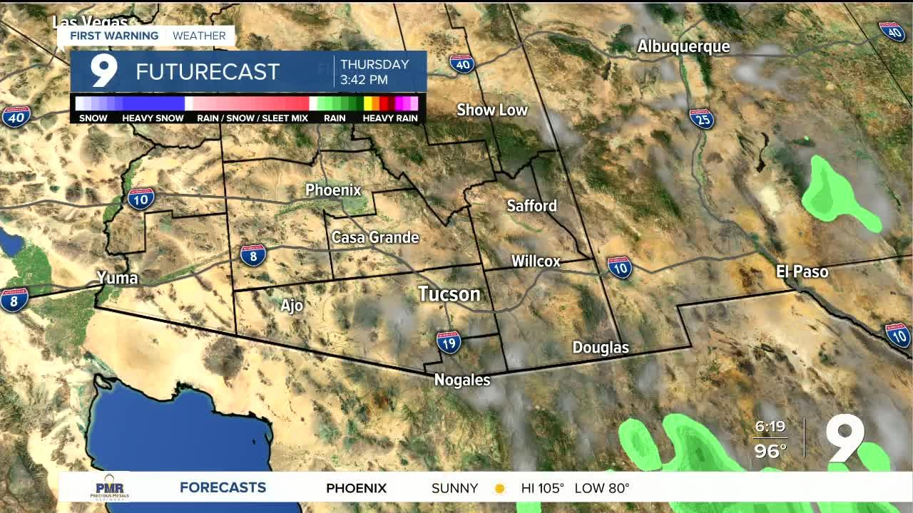 A slight chance of rain returns by the end of the week