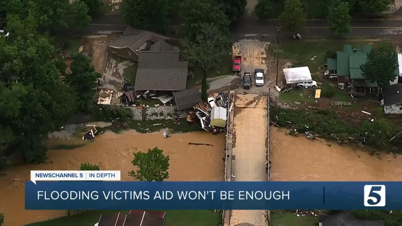 Flood victims are finding that federal aid isn't enough