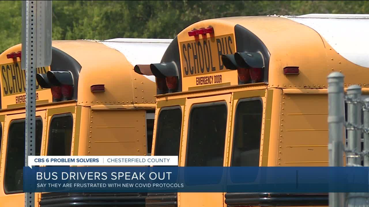 COVID-19 protocols leave veteran Chesterfield bus drivers discouraged