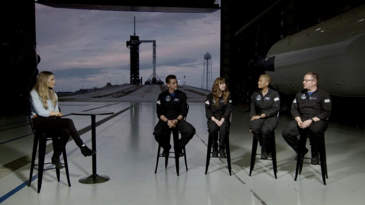 Hear from the first all-civilian crew before they go into orbit