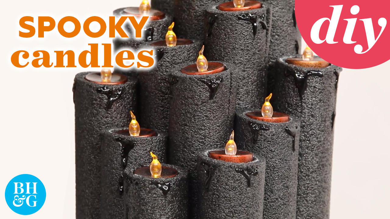 How to Make a Spooky Black Candle Urn for Halloween 👻 | Made By Me | Better Homes & Gardens
