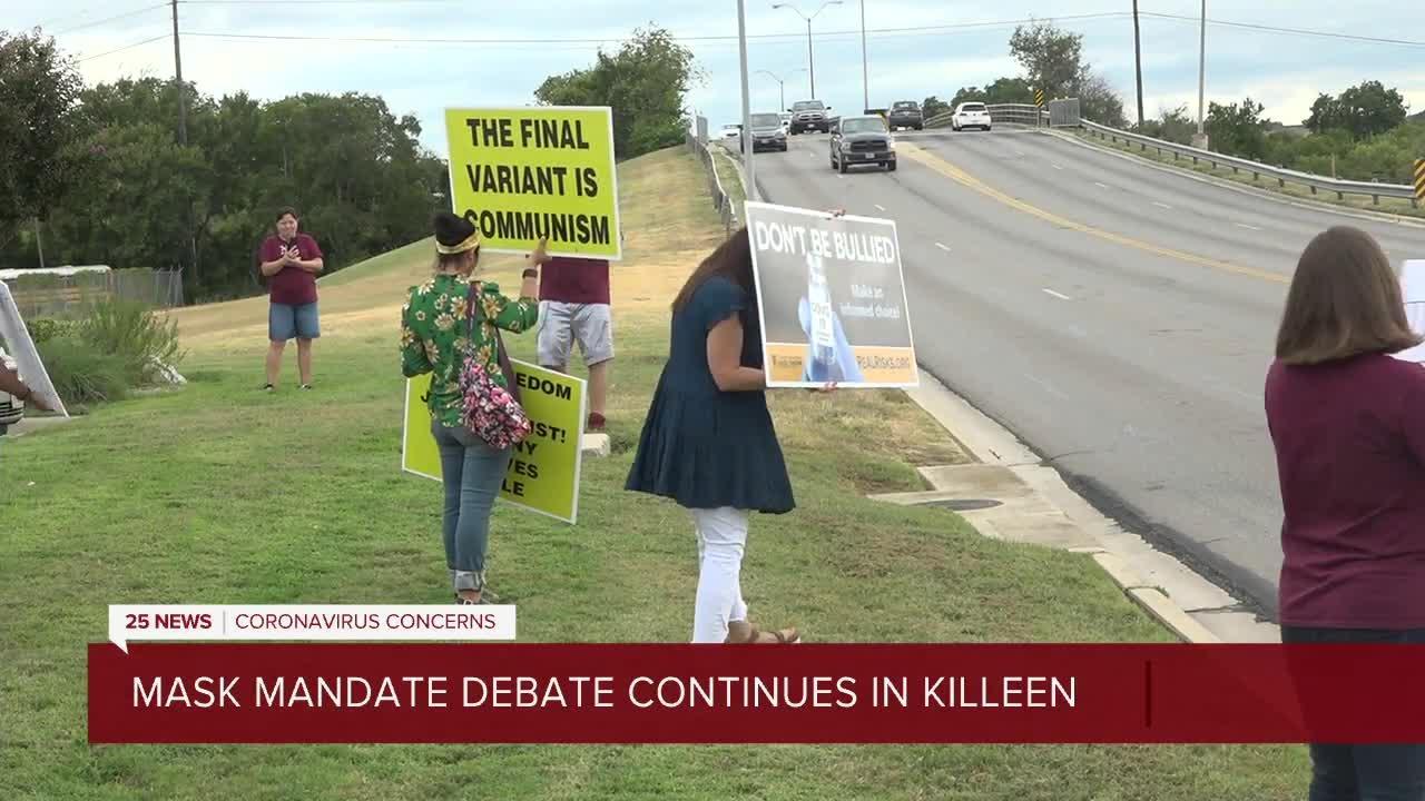 Mask mandate debate continues in Killeen