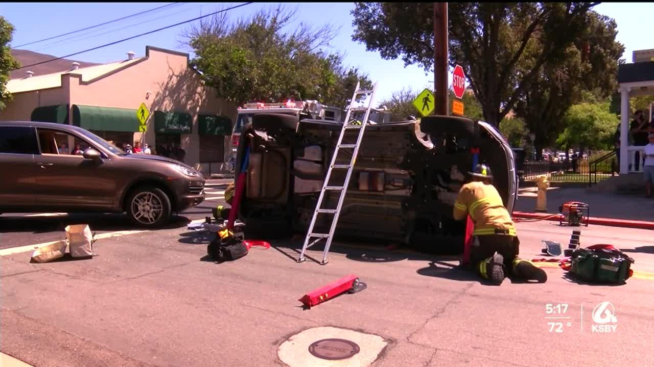 SLO City Fire responds to multiple vehicle crashes Tuesday