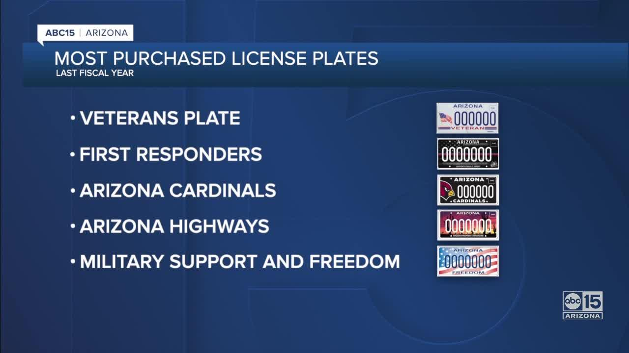 10 most popular ADOT specialty plates