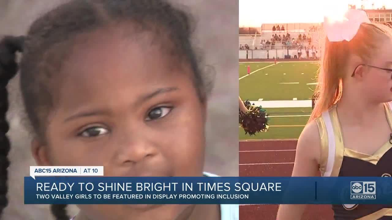Two Valley girls featured in Times Square presentation