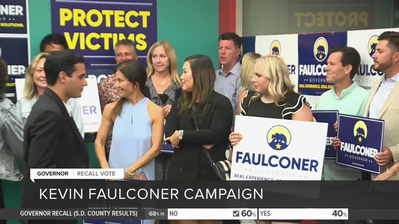Kevin Faulconer speaks to supporters