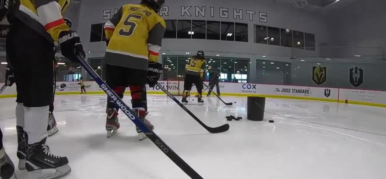 Many kids get onto the ice for the first time as hockey popularity increases in the Las Vegas valley