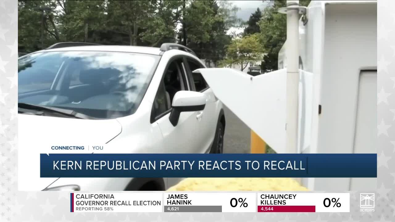 Kern Republican party reacts to recall