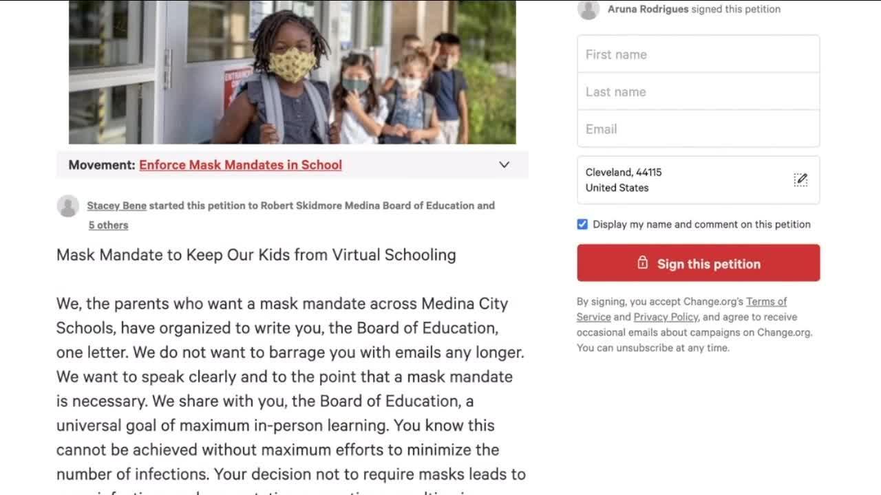 Medina moms start online petition for a district-wide mask mandate