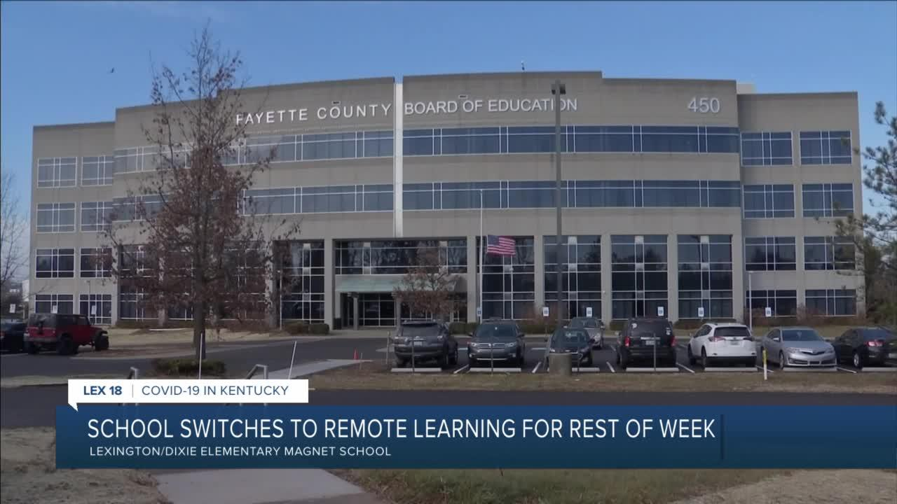School switches to remote learning for rest of week