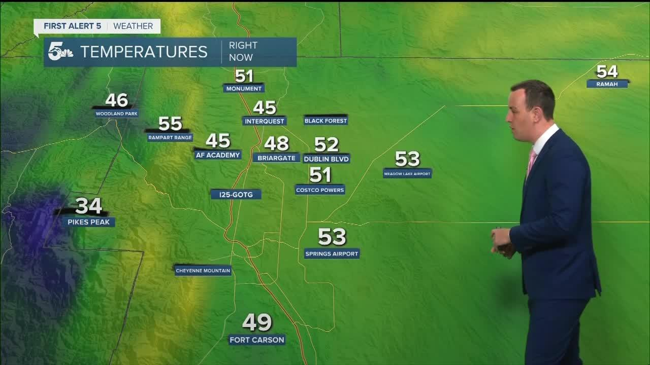 Heating back above average with dry skies