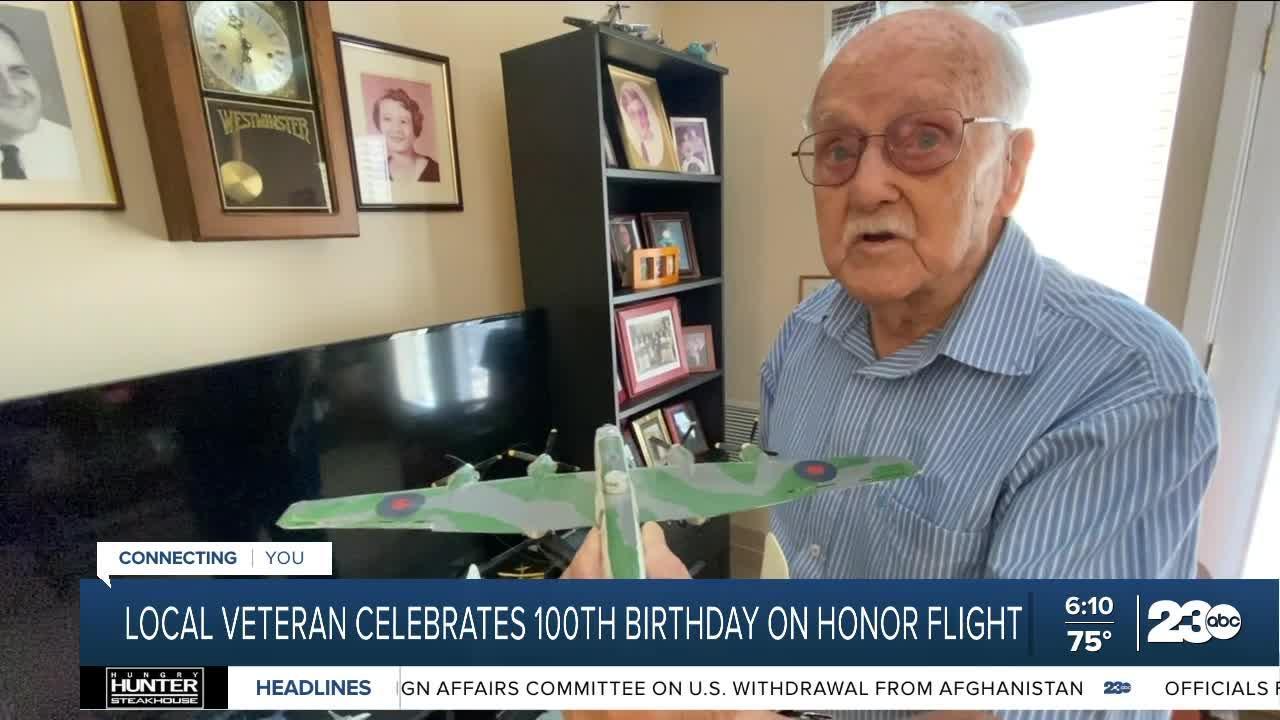 Local Veteran Celebrates 100th birthday on Honor Flight