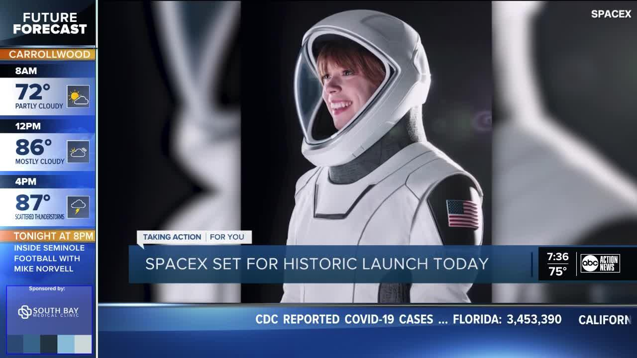 SpaceX launching first civilian crew Wednesday night