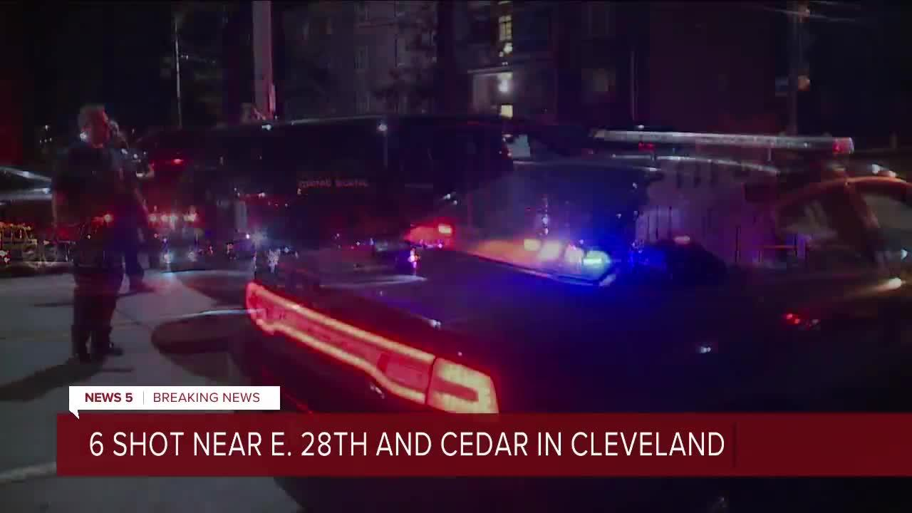6 hospitalized on Cleveland's East Side in drive-by shooting