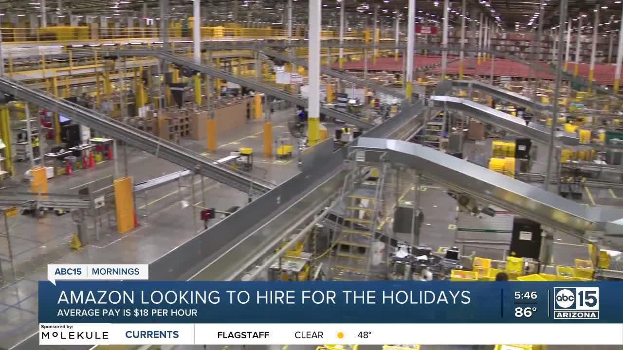 Amazon eyes 5K more hires in Phoenix, $18+ per hour average salary