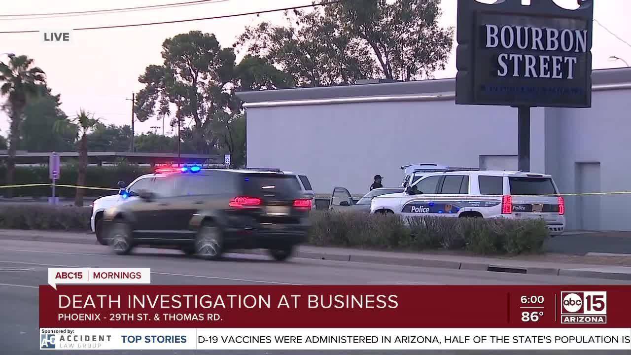 Police investigation at Phoenix lounge