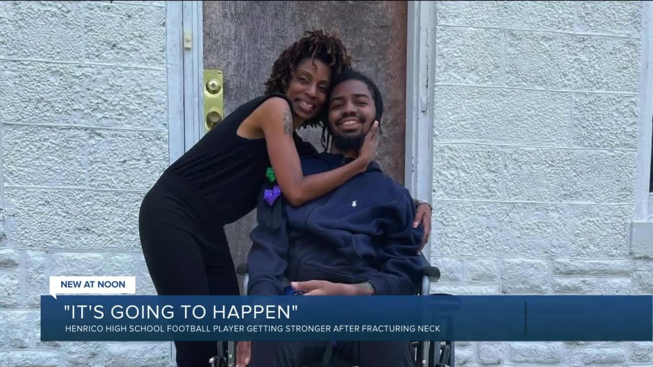 Former Henrico football player vows to walk again