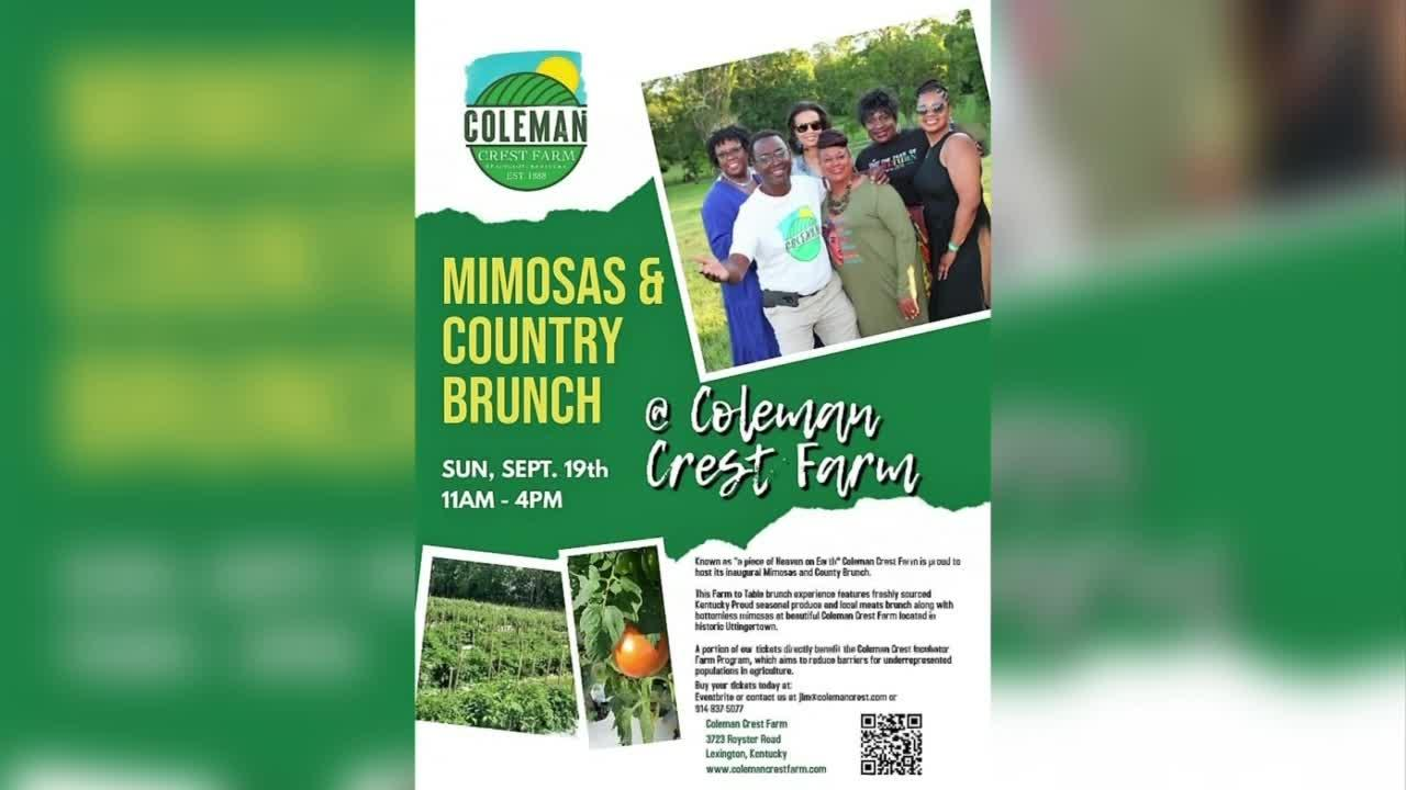 Coleman Crest Farm's Mimosas and Country Brunch