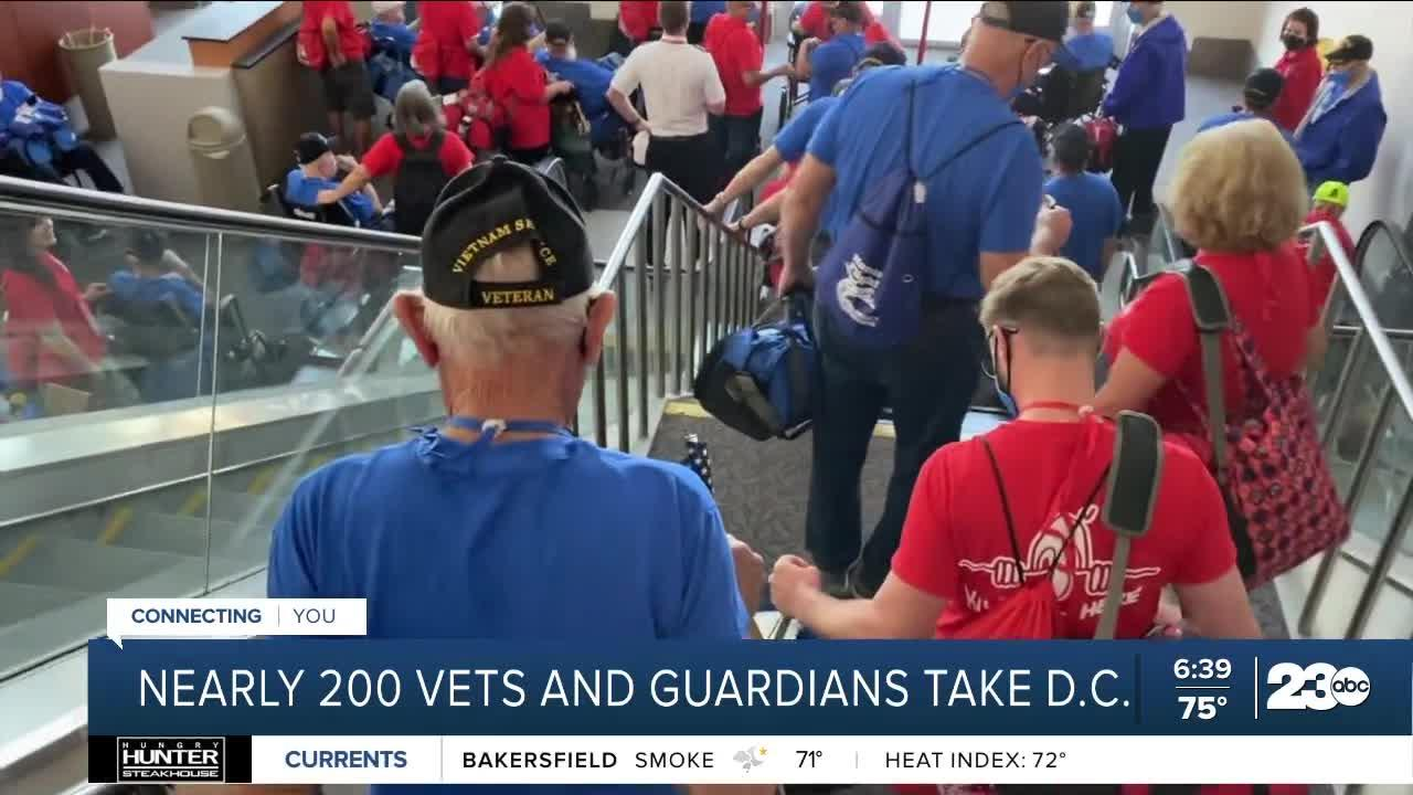 Kern County veterans take in day one of Honor Flight