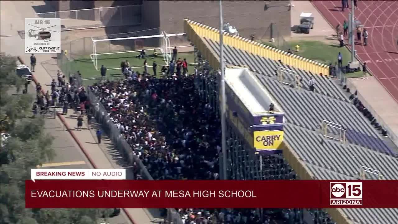 Lockdown, evacuations at Mesa High School for suspicious package