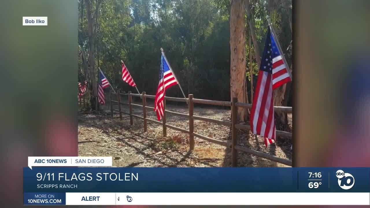 9/11 flags stolen from Scripps Ranch neighborhood