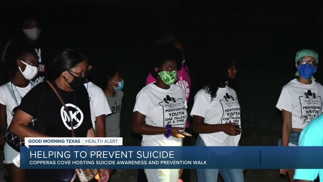 Copperas Cove hosting teen suicide awareness walk
