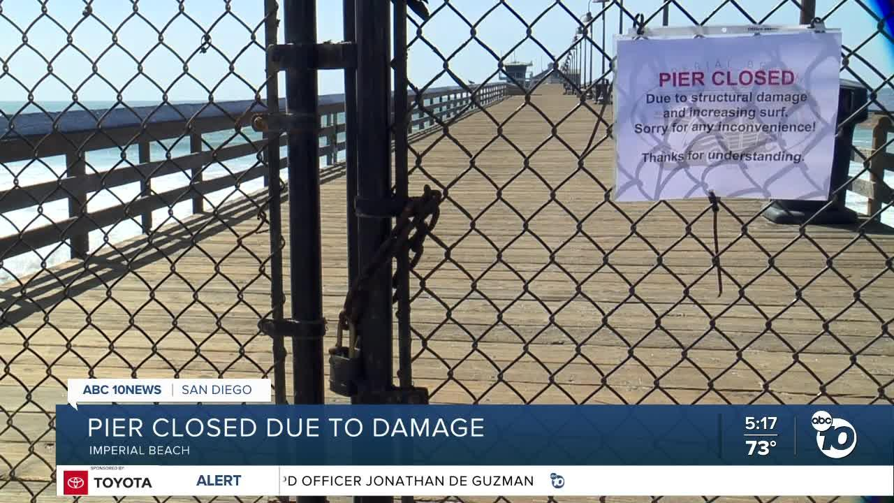 Imperial Beach Pier closed after broken pile seen floating in water