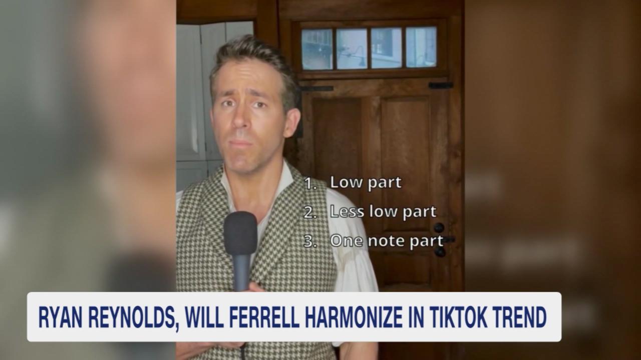 Ryan Reynolds & Will Ferrell harmonize in TikTok trend