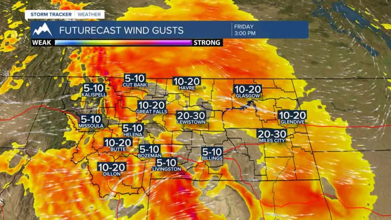 Gusty winds through the weekend