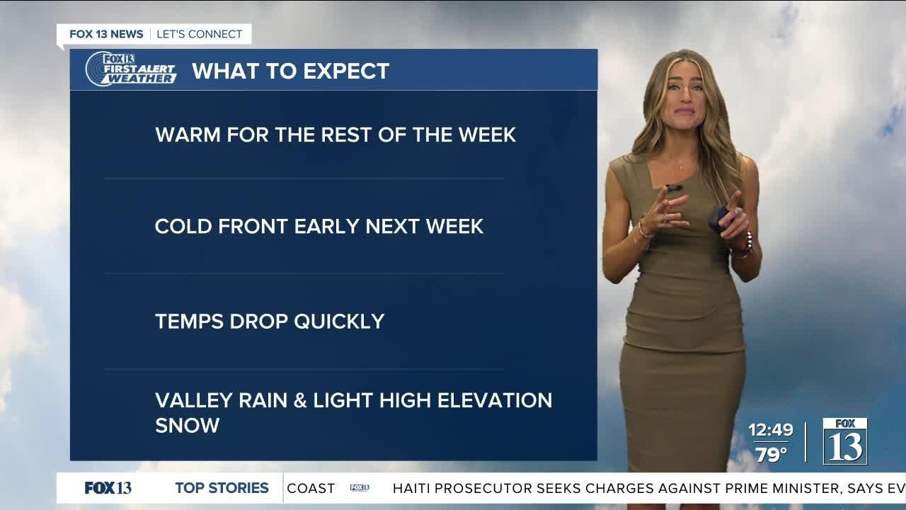 Rapid drop in temps coming to Utah - September 15