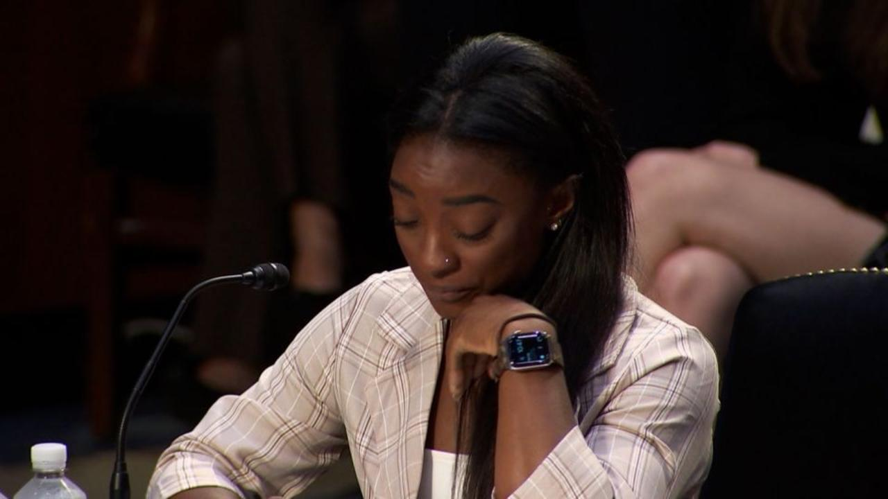 Hear Simone Biles' emotional testimony before Senate