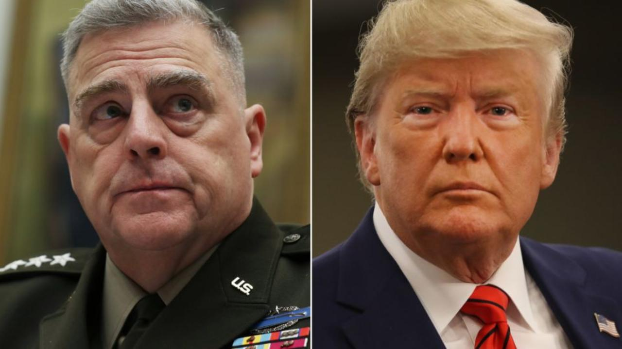 Trump responds to reporting about Gen. Milley's actions