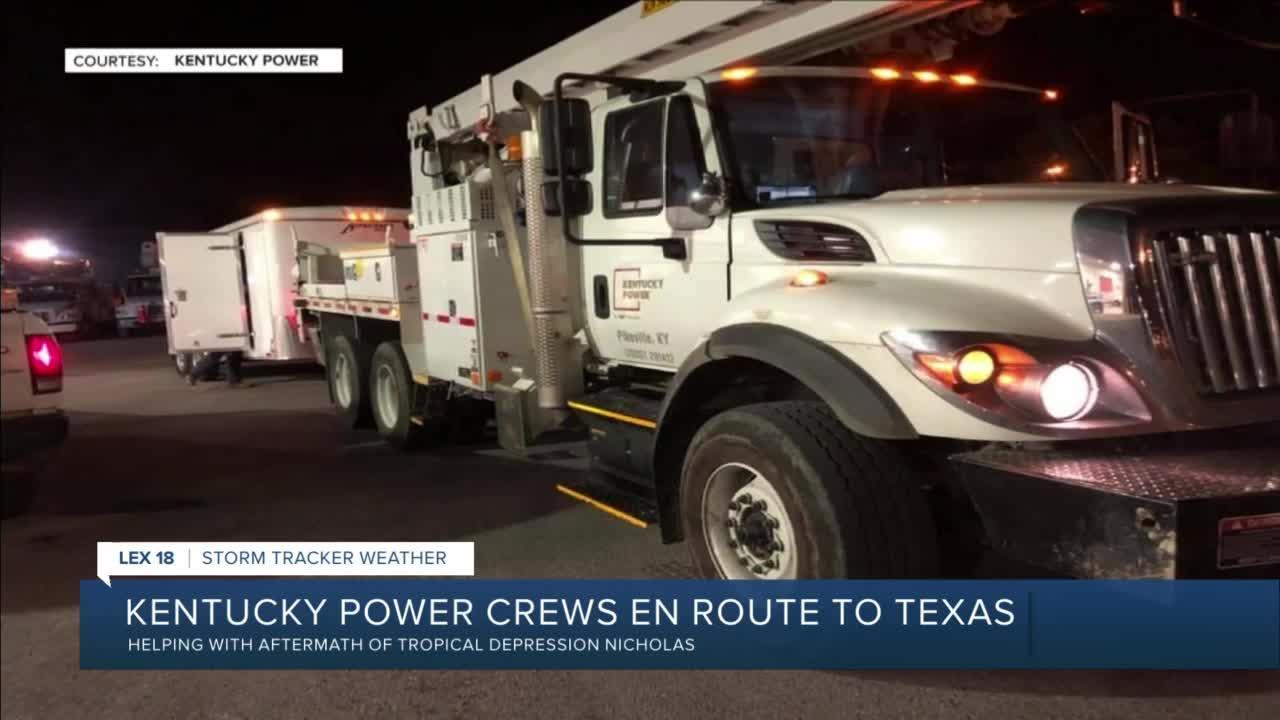 Kentucky power crews en route to Texas