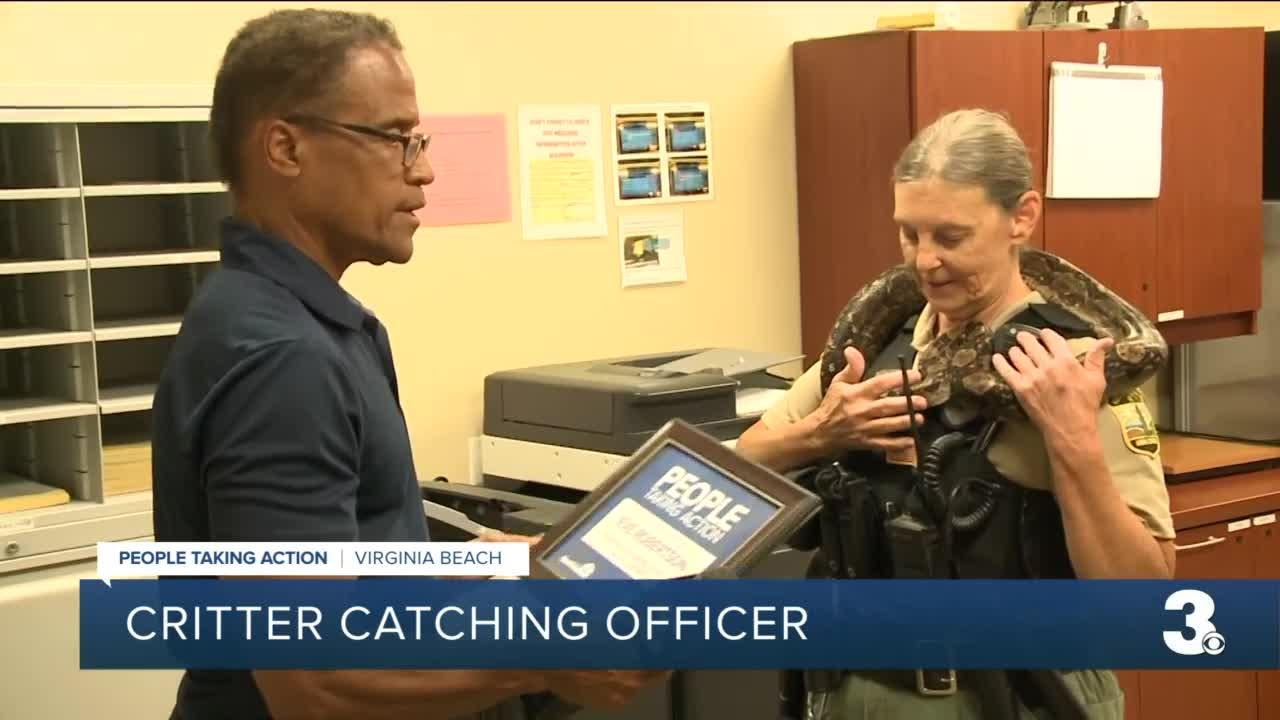 Critter catching officer
