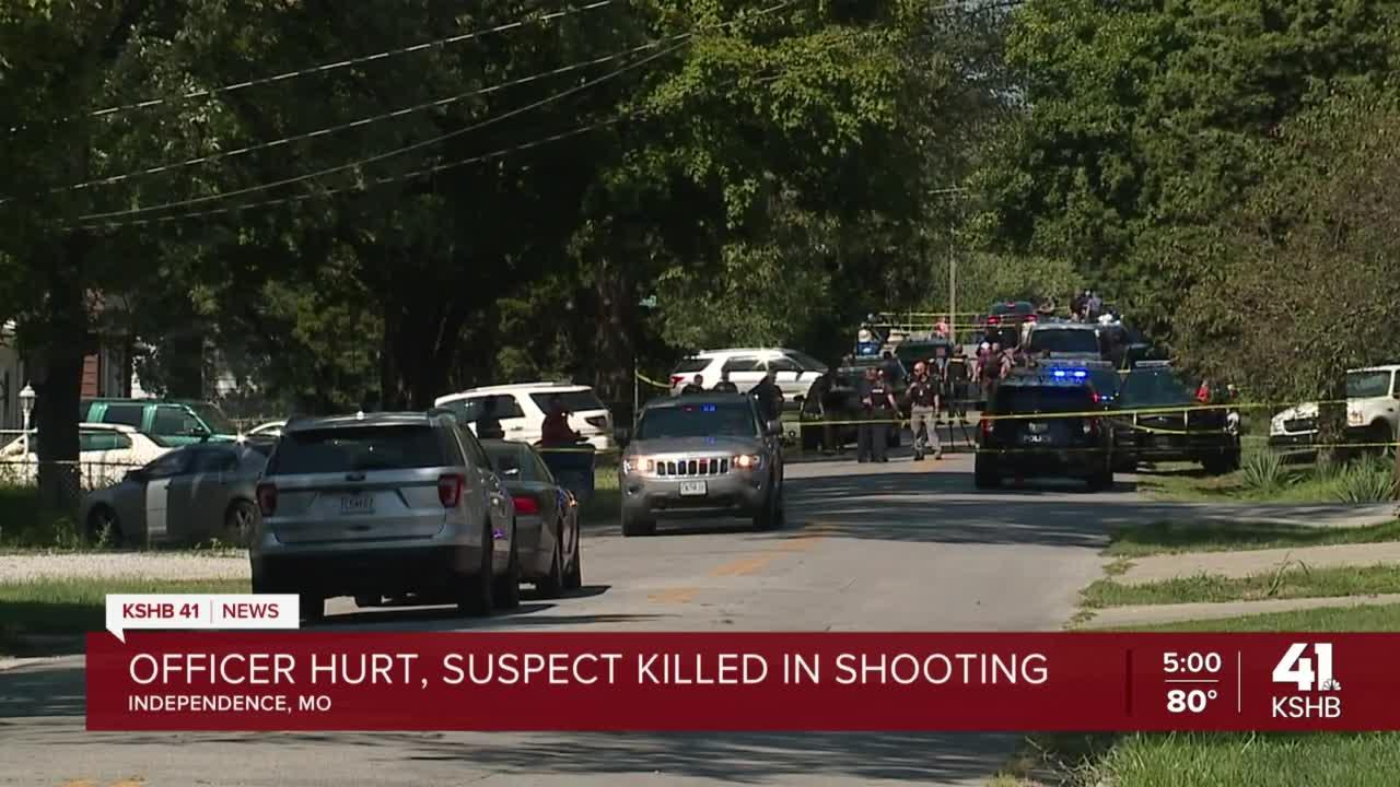 Independence officer seriously injured, suspect killed in shooting