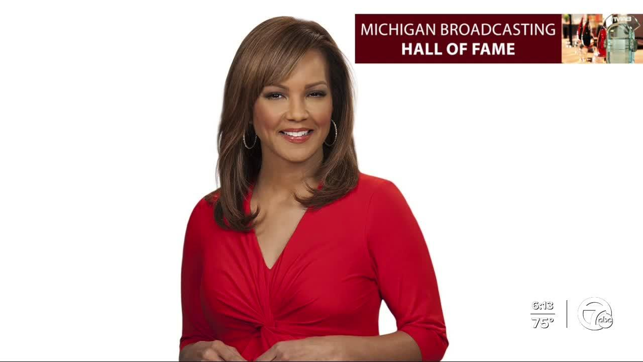 WXYZ anchor Carolyn Clifford being inducted into Michigan Broadcasting Hall of Fame
