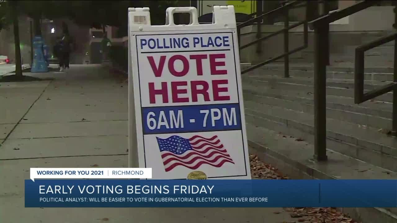 Early voting for Virginia's November election to begin this week