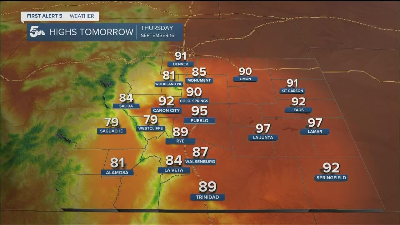 Cooler air coming Friday morning to southern Colorado