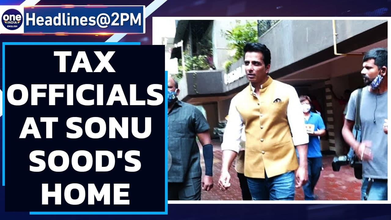 Income Tax officials reach at Sonu Sood's Mumbai residence after raids at office   Oneindia News