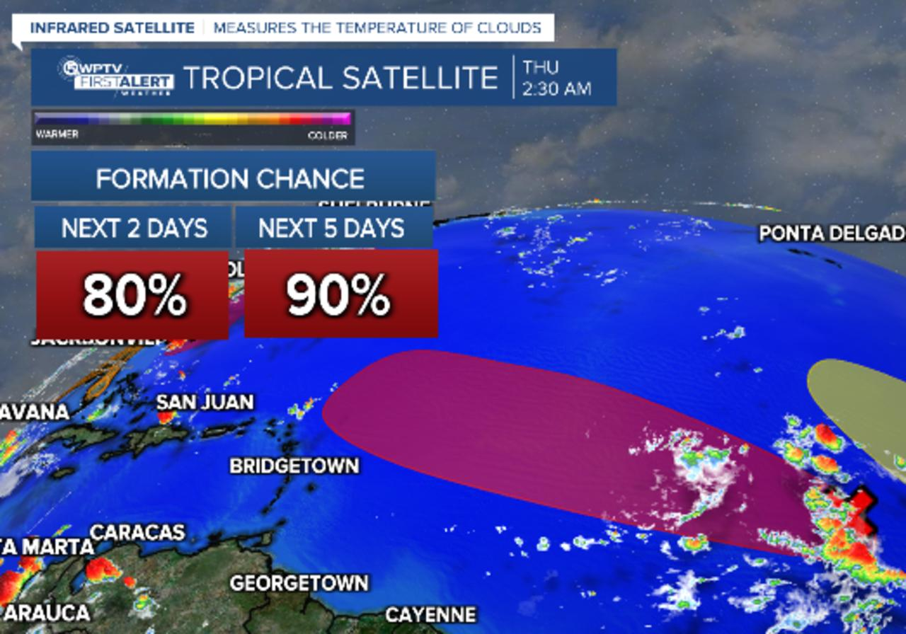 Two tropical waves likely to develop this week as a third moves into the Atlantic