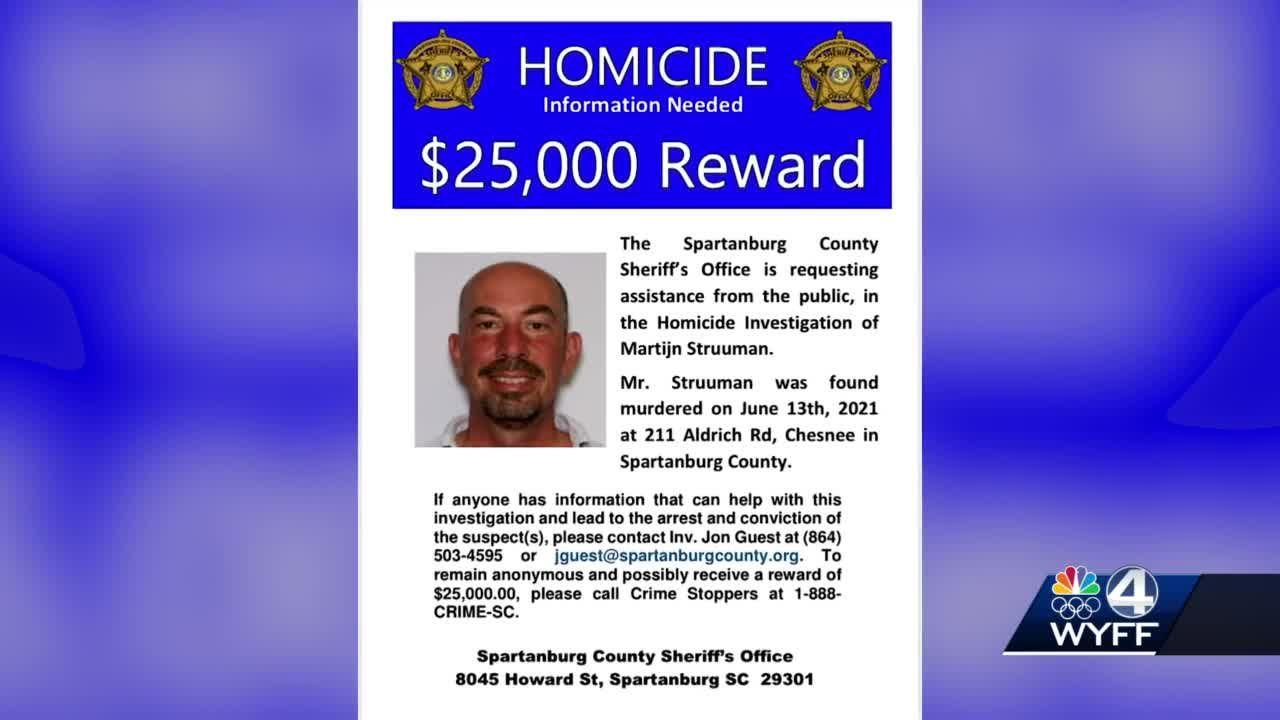 Spartanburg Co. Sheriff's Office offers reward for unsolved homicide