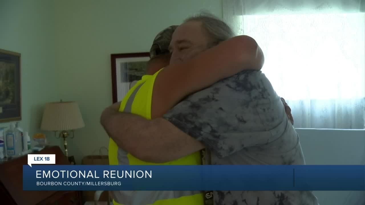 Emotional Reunion: Rumpke employee meets man he helped pull out of burning home